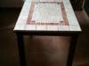 Tavolino artigianale in legno e pietra